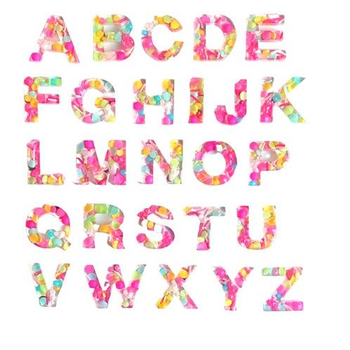 Resin Alphabet Letter Set - Flamingle