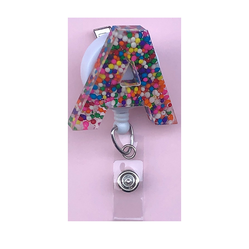 Resin Letter Badge Reel
