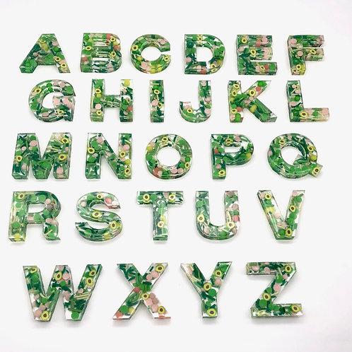 Resin Alphabet Letter Set - Holy Guac