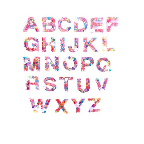 Resin Alphabet Letter Set - Over the Rainbow