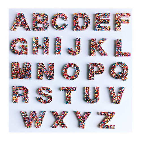 Resin Alphabet Letter Set - Funfetti