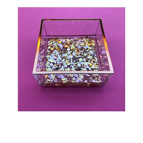 Acrylic Catchall with Sparkle Filling