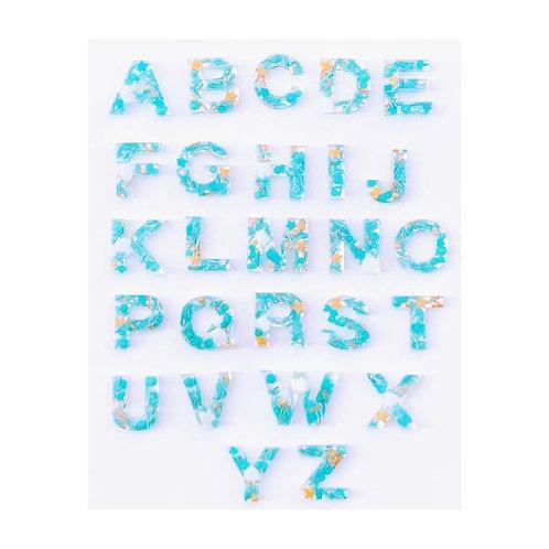 Resin Alphabet Letter Set - Under the Sea