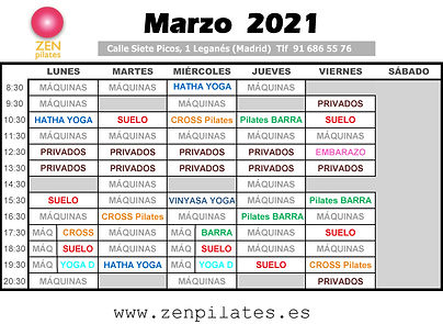 Horarios MARZO ZEN PILATES www.jpg