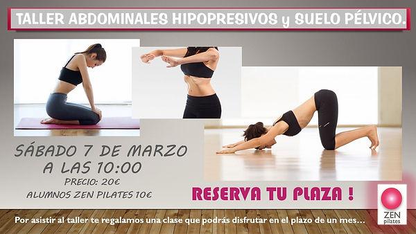 TALLER HIPOPRESIVOS  SAB  7 DE MARZO 20.