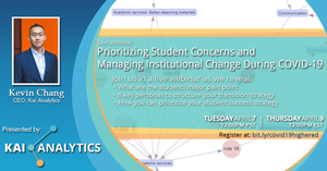 Kai Analytics Recorded Webinar | Prioritizing Student Concerns and Managing Institutional Change During COVID-19
