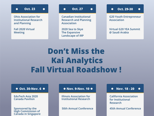 Fall Virtual Roadshow Across North America and Globally