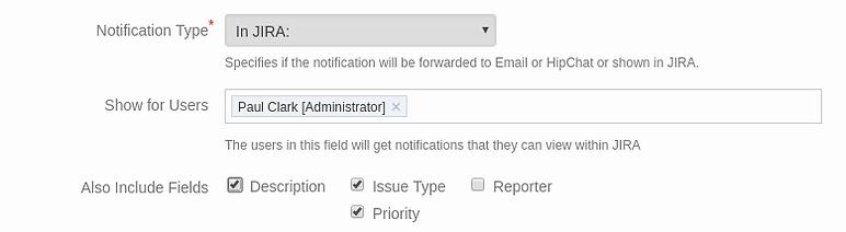Project Watcher In Jira notification settings