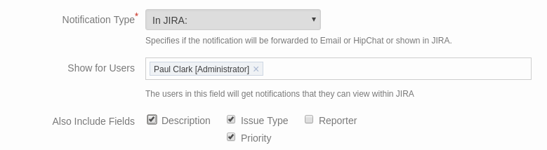 Project Watcher In Jira notification settings
