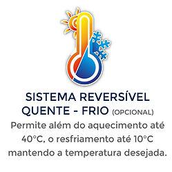 Sistema reversível quente frio