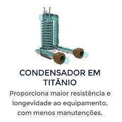Condensador em tiânio