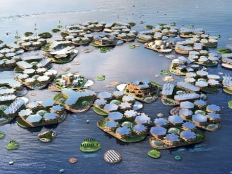 Ciudad flotante resiste huracanes.