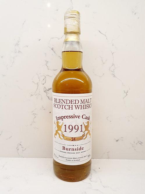 Burnside 1991 24yr Whisk-e Impressive Cask