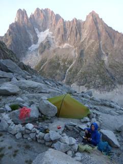 Trélaporte Glacier bivouac