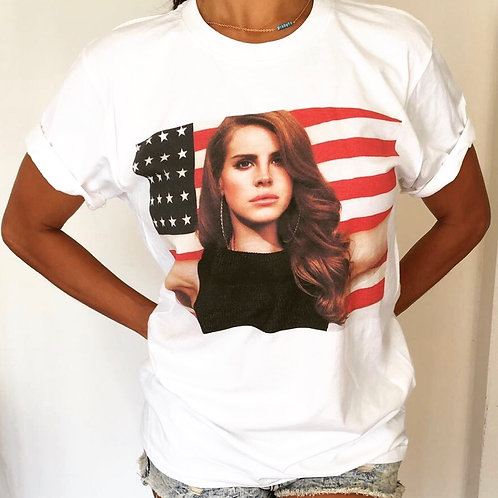 Lana Del Rey American Flag