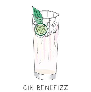 Drink menu illustrations