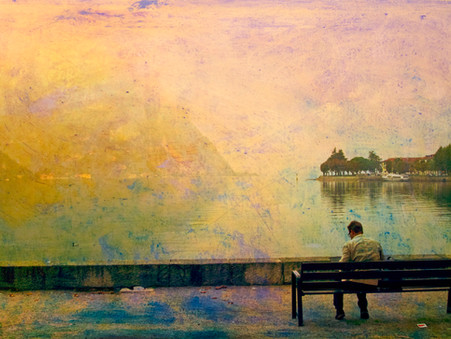 Loneliness by the lake