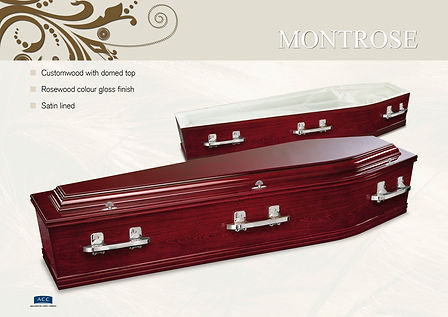 rosewood coffin