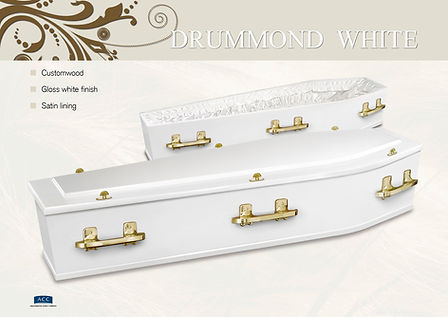 white coffin
