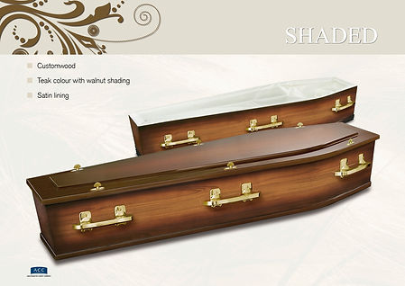 shaded coffin