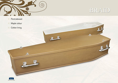 Particleboard coffin
