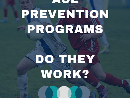 ACL Injury Prevention Programs...  Do They Actually Work?