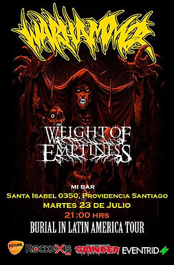 Show de Weight Of Emptines 23-07-2019