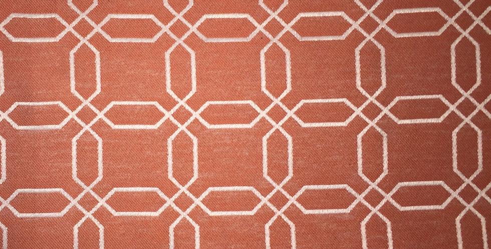 Coral Geometric with Orange Tone