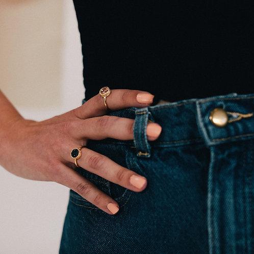 Round Druzy Ring