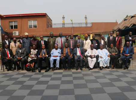 Induction Ceremony for New President of Nigerian University and His Leadership Team