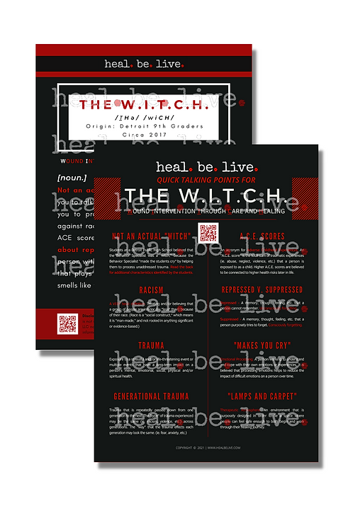 THE W.I.T.C.H. Quick Talking Points Poster