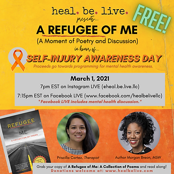 Self-Injury Awareness Day LIVE HBL Event