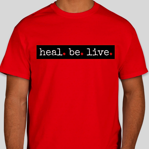 Unisex Heal.Be.Live. Classic Tee  (Limited | RED | Collection)