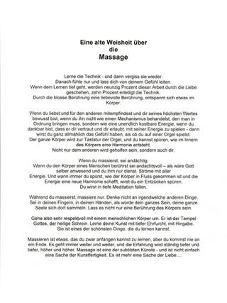 Weisheit ueber Massagen