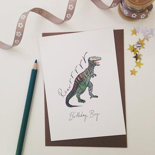 'Birthday Boy' illustrated Greeting Card