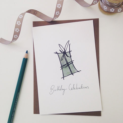 'Birthday Celebrations' Greeting Card - Free Post