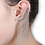 Thumbnail: Diamond Studded Dangle Ear Cuff with Metal Chains