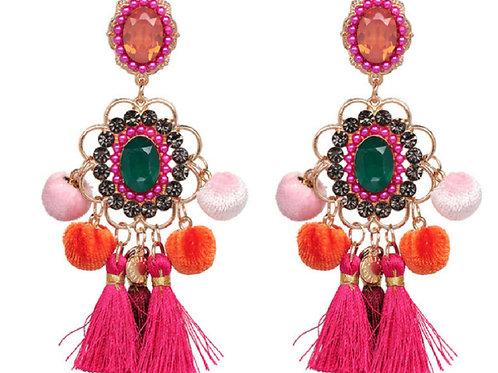 Colorful Boho Statement Earrings