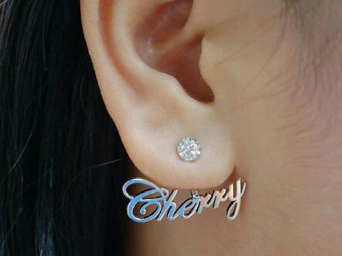 Custom name studs with Diamonds