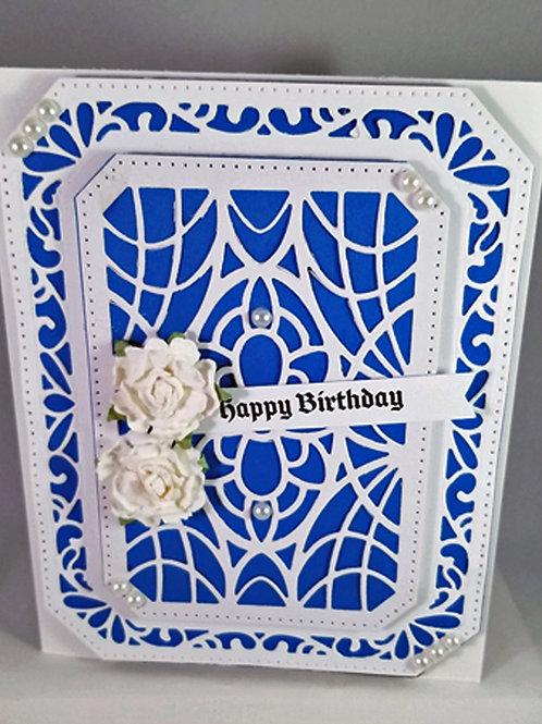 Happy Birthday (Blue White)