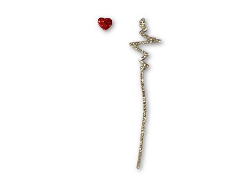 Red Heartbeat Earrings