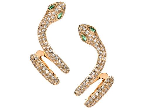 Diamond Snake Ear Cuffs