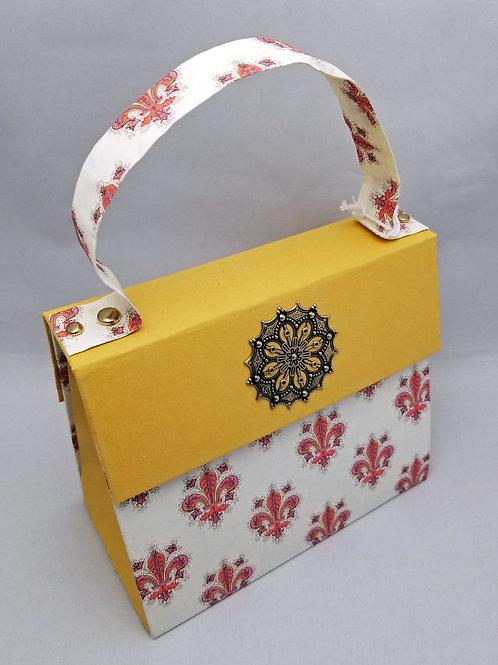Fleur De Lis Paper Purse
