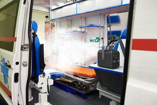 Désinfection ambulance biosafety mini