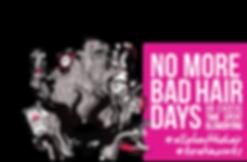No mor bad hair days and logo