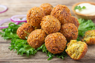 Vegetarian dish - falafel balls from spi