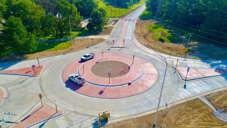 Cambria, IL roundabout