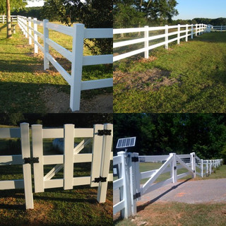 Vinyl Fences and Automatic Gate