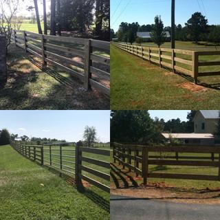 Wooden 3 &4 Rail Fences