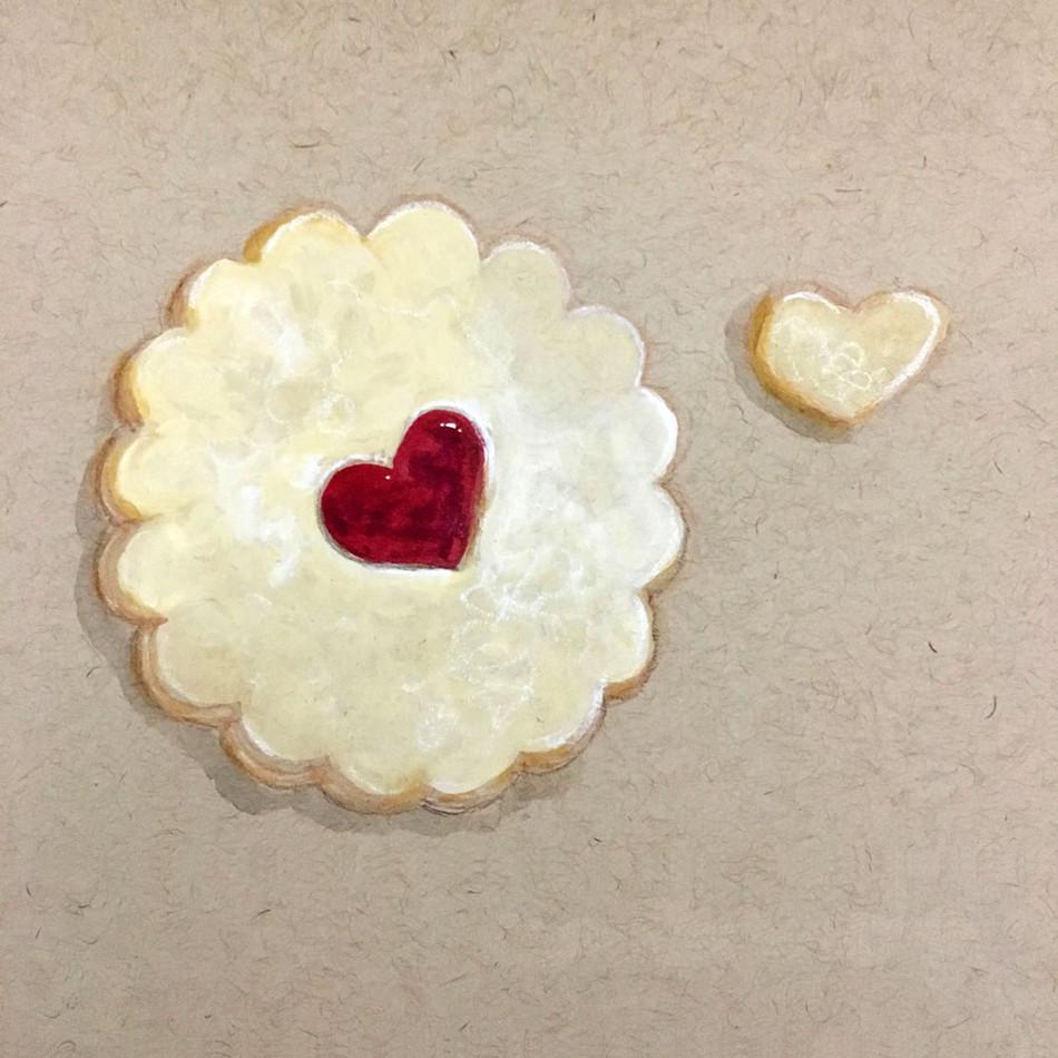 Linzer Cookie Valentine